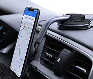 AUKEY Car Phone Mount 360 Degree Rotation Dashboard Windshield [Strong Magnetic] Cell Phone Holder for Car Compatible with iPhone 11 Pro/11/XS Max/XS/8/7 and More