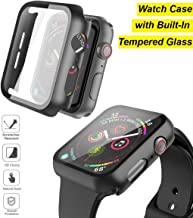 JumpStart Apple Watch 44mm iWatch Case with Built-in Tempered Glass Screen Protector Designed for Apple iWatch Series 6/5/4 (44mm) [Snap On Design]
