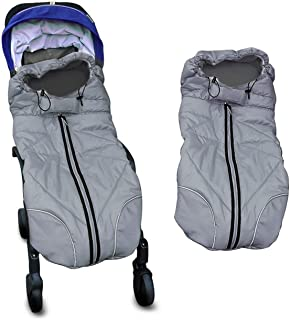Waterproof Universal Baby Stroller Sleeping Bag Footmuff Sack Grey by Berocia (Baby Stroller Sleeping Bag)