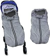 Waterproof Universal Baby Stroller Sleeping Bag Footmuff Sack Grey by Berocia (Baby Stroller Sleeping Bag)