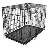 WilTec Cage de Transport Pliable en Fil métallique Petits Animaux Caisse de Transport métallique Taille L