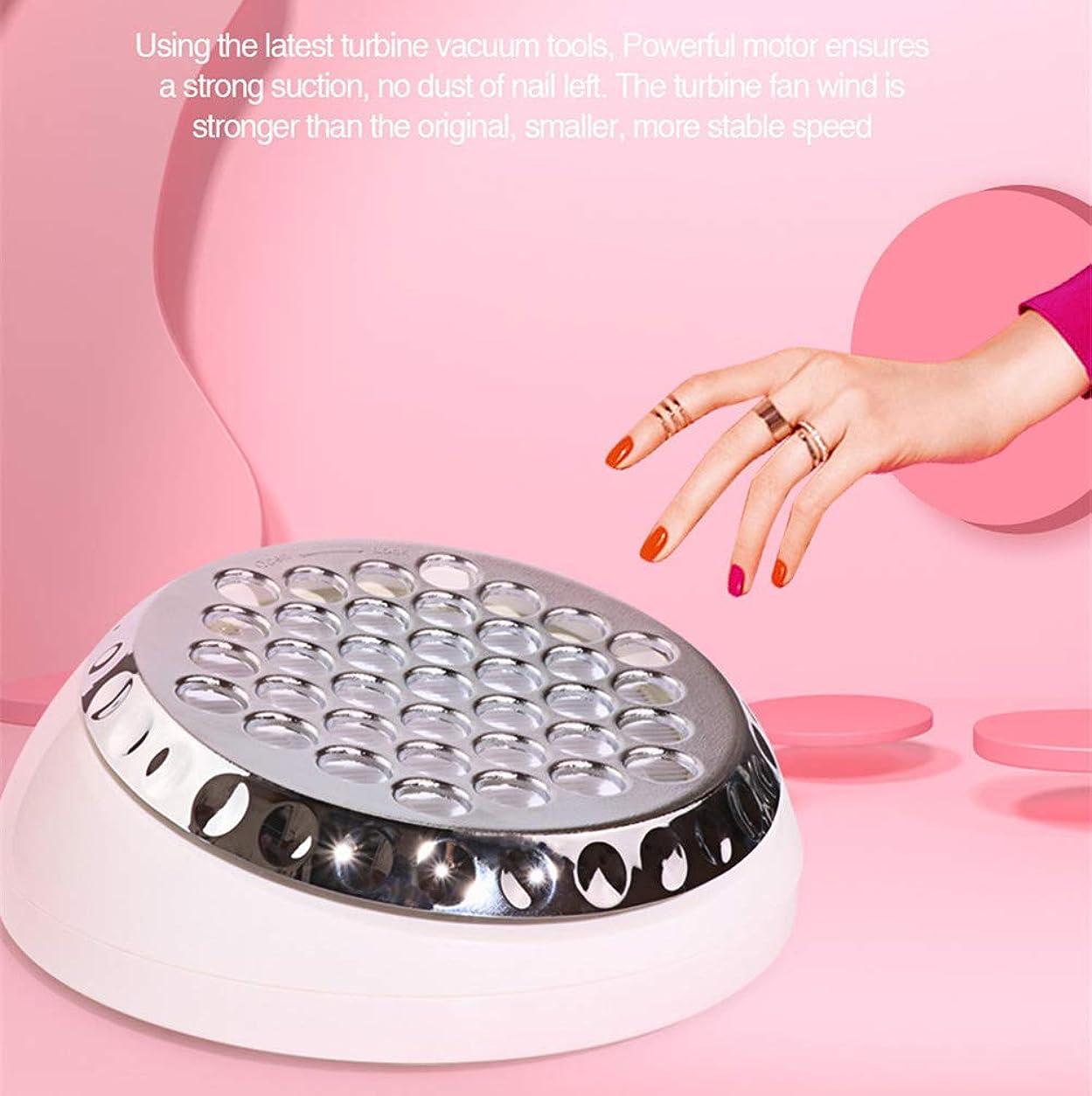 ラッチ些細な旅行者マニキュアのための60Wタービン釘の掃除機の低雑音の釘の集じん器の抽出器の芸術の釘の設計強力な機械