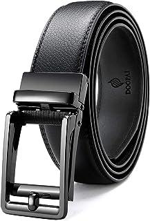 أحزمة سقاطة سوداء للرجال، DOOPAI 1 3/8 حزام هدية أوتوماتيكي مشبك، حزام قابل للتعديل