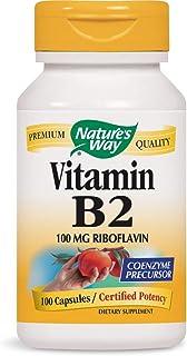 Nature's Way Vitamin B-2 - 100 mg - 100 Capsules (Pack of 6)
