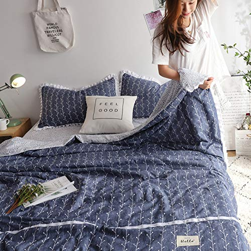 Bedding Set Koeling Quilt raam Technology for Cool Sleep in de zomer en het hele jaar door zweettransporterend Ademende Cool 4 stuks Quilt Set (Color : Purple, Size : 150 * 200)