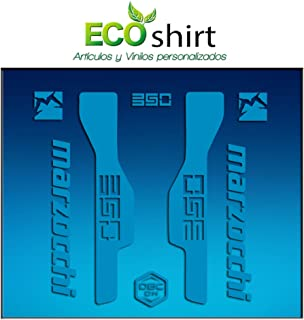 Blue 26 and 27.5 Ecoshirt 1H-5ITO-OVDW Fork Stickers Marzocchi 350 Am32 Stickers Aufkleber Decals Adesivi Bike BTT MTB Cycle