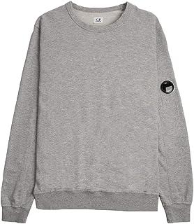 C.P. Company Garment Dyed Lens Sweatshirt - Mottled Grey