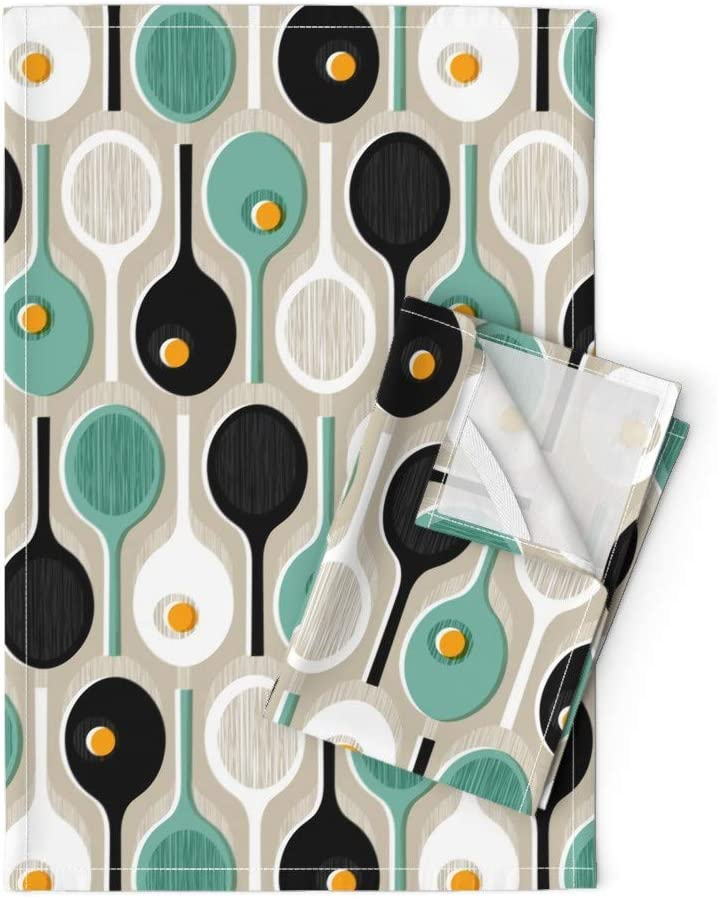 Mid Century Modern Year-end gift Tennis Tea Towels Sport Scandi Mod N Outlet ☆ Free Shipping Racquets
