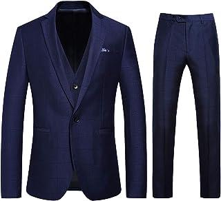 [CEEN] スリーピース メンズ スーツ 無地 ビジネス スタイリッシュ 細身