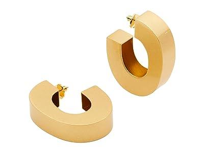 Kate Spade New York Urban Jungle Hoops Earrings (Worn Gold) Earring