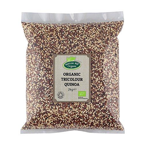 Bio Tricolor Quinoa, Bunter Quinoa Mix 2kg (Schwarz, Weiß & Rot) von Hatton Hill Organic - BIO zertifiziert