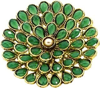 A.R. FASHION Ring For Women Stylish Adjustable 1 Pc - Traditional Ethnic Green Ring