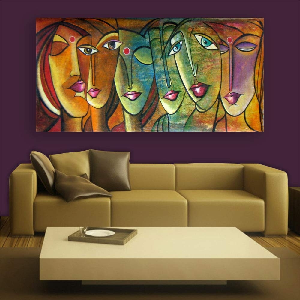 Buy Inephos Framed Canvas Painting Femininity Humans Theme Beautiful Wall Painting For Living Room Bedroom Office Hotels Drawing Room 85cm X 40 5cm Online At Low Prices In India Amazon In