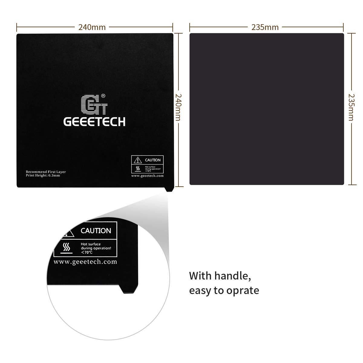 DERUC Geeetech Imprimante 3D flexible amovible plaque magn/étique 3M adh/ésif double face A30