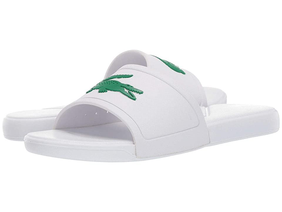 Lacoste Kids L.30 Slide 119 2 CUJ (Little Kid/Big Kid) (White/Green) Kid