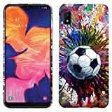 Glisten - Designer Hard Case for Galaxy A10 / M10 [Not for A10E] - Vintage Color Soccer Printed Slim Profile Cute Plastic Snap on Back Cover