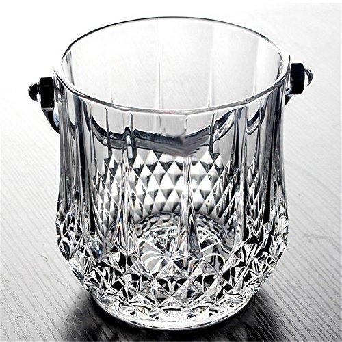 Bicchiere in Cristallo Champagne Ice Bar Bar KTV Ice Pack con Manico e Clip di Ghiaccio, Diamante
