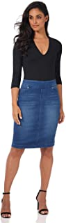 Jeans Women's Ease into Comfort Pull-On Stretch Denim Skirt