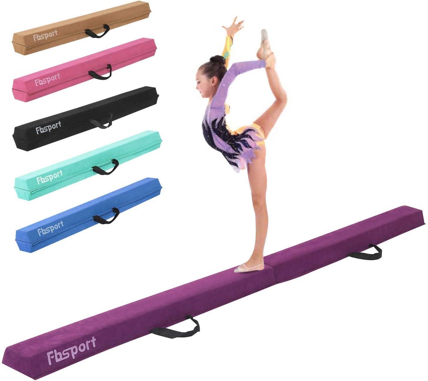 FBSPORT 8ft Balance Max 85% OFF Beam: Folding for Easy-to-use Equipment Floor Gymnastics