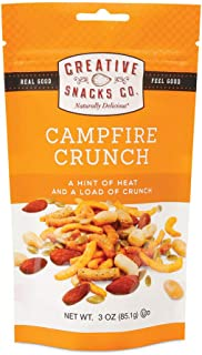 Creative Snacks Campfire Crunch Trail Mix Snack Bags, 6 Individual Packs, 3 Ounces Each, Resealable