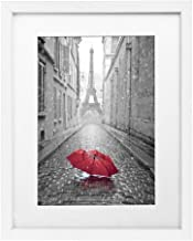 Americanflat 11x14 White Picture Frame - Display Pictures 8x10 with Mat or 11x14 Without Mat - Wall Mounting Materials Included