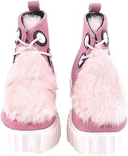 Women Winter Suede Leather Sheepskin Faux Fur Lining Winter Boots