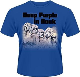 Deep パープル T Shirt In Rock Band Logo Faces 公式 メンズ 新しい ブルー