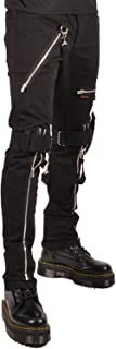 pants with straps and zippers