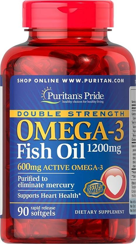 ペイントビザ広がりダブルストレングス?オメガ3 フィッシュオイル 1200 mg. PURITAN'S PRIDE社製 海外直送品 並行輸入