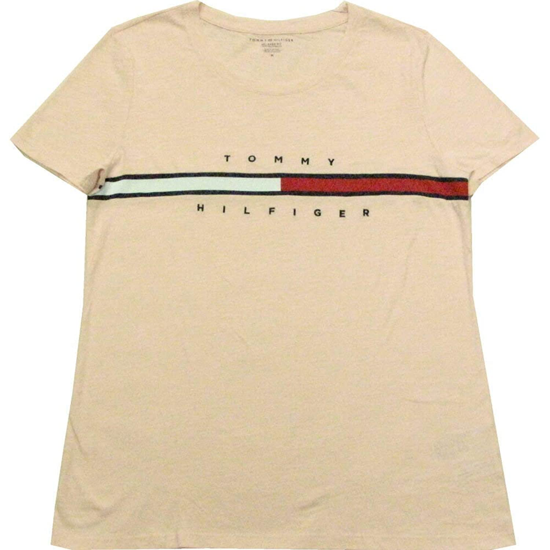 Tommy Hilfiger(トミーヒルフィガー) フラッグラインロゴTシャツ(Pink)【S/M/L】 [並行輸入品]