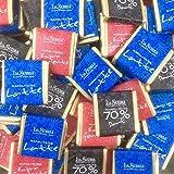 Cioccolatini di cortesia Napolitains La Suissa - Confezione da 1 kg (180 cioccolatini) - Assortimento di cioccolato Fondente extra 52%, Fondente extra 70%, al Latte. Senza glutine