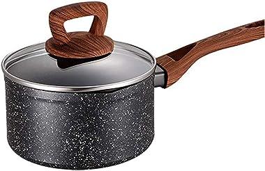 WSSBK Milk Pan, Non-Stick Milk Pan, Cookware Non-Stick Milk Pan with Lid, Forged Aluminium Induction