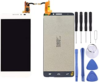 AFANG LCD Screen and Digitizer Full Assembly for Alcatel One Touch Idol X / 6040 / 6040A (Black) (Color : White)