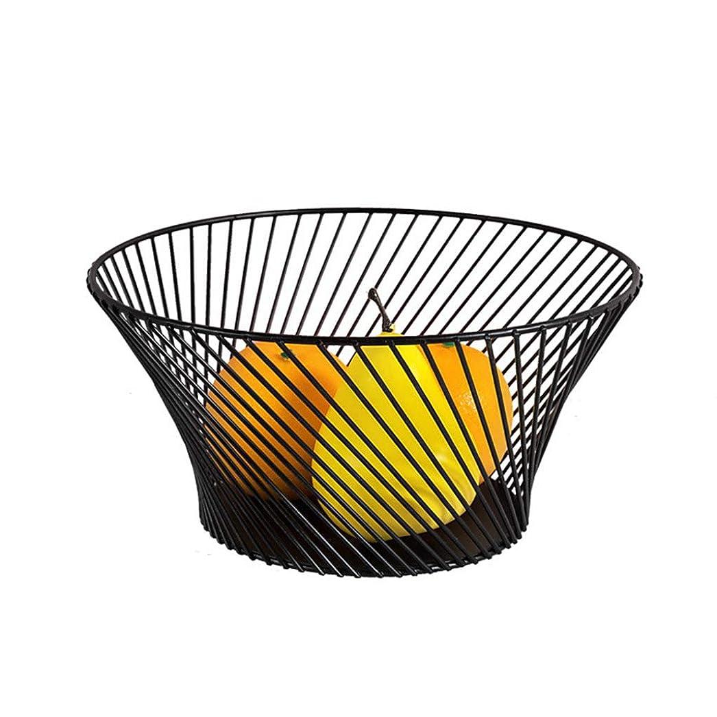 オートメーションすり減る展開するXL_FRUIT フルーツプレート鍛造鉄フルーツバスケット家庭フルーツプレートフルーツボウルリビングルームスナックプレートストレージバスケット (色 : ブラック)