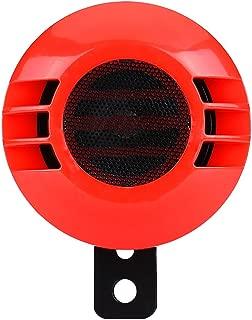 Snail Horn Speaker, 110dB 430HZ Loud Electric Snail Horn Loudspeaker Alarm Universal for 12V Motorcycle Car (red)
