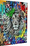 Magic Canvas Art - Imágenes Pop Art León Rey Lion, lienzo de 1 pieza, impresión artística de alta calidad, moderno mural, diseño de pared, tamaño: 100 x 75 cm