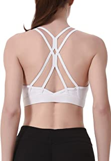 GORIFE Womens Seamless High Impact Activewear Bras Criss Cross Back Workout Yoga Sports Bras XS-XL