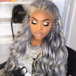 Best silver lace front wig human hair Reviews