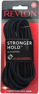 Revlon Extra Long Black Hair Elastics, 16 Count