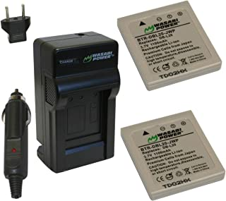 Wasabi Power Battery (2-Pack) and Charger for Sanyo DB-L20, DB-L20AU