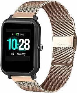 ID205L Correa de reloj inteligente,Correa de silicona, malla de acero inoxidable para reloj inteligente ID205L,ID205G ID20...