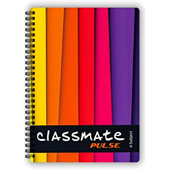 Classmate Pulse Spiral Notebook - Single line, 300 Pages, Wiro, 240mm x 180 mm