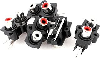 uxcell 5pcs PCB Mount 2 Position Stereo Audio Video Jack RCA Female Connector