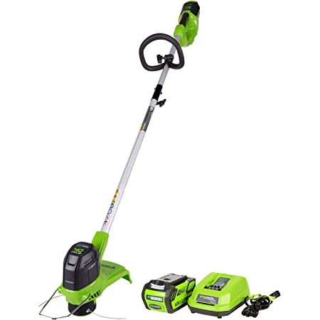 Greenworks 40V 12-Inch Cordless String Trimmer, 4Ah Battery and Charger Included, ST40B410