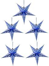 Holibanna Indoor Ster Lantaarns Papier 5Pcs 30Cm Shiny Plafond Papier Ster Opknoping Pentagram Ornament Voor Bruiloft Kers...