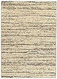 HAMID - Alfombra Kilim Montana con Diseño Rustico - 100% Lana - Alfombra Anudada a Mano - Alfombra de Salón, Dormitorio, Sala de Estar – Tonos Marrones y Beige - Diseño (LightBeige, 160x230cm)