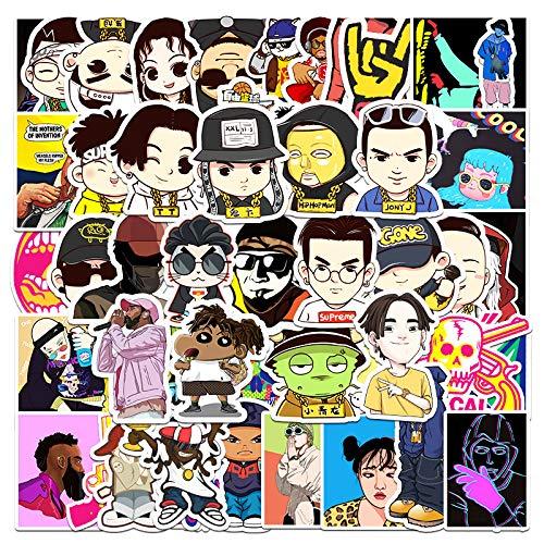 JZLMF 55 Etiquetas engomadas del Doodle del Personaje de Dibujos Animados de la música, Etiquetas engomadas de la Vespa del Coche del Equipaje