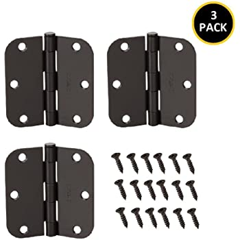 18 Pack of Square Corner Door Hinges 3-1//2 in Oil Rubbed Bronze x 3-1//2 in.