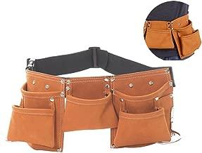 Fellibay Kids Tool Belt Tool Pouch Builders Bag Belt Storage Hammer Holder Waist Bag with 5 Pockets for Children