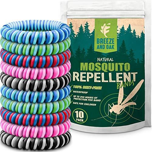 Mückenschutz Armband–zweifarbigem insektenabweisend Bands–DEET frei, natürliche Inhaltsstoffe–geeignet für alle (Kids & gewachsen UPS)–Indoor & Outdoor Schutz–15Pack